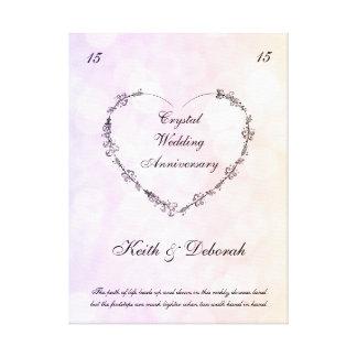 Impressão Em Tela Aniversário de casamento de cristal customizável