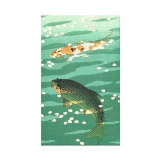 Impressão Em Tela Arte clássica de Ukiyo-e do vintage da lagoa de