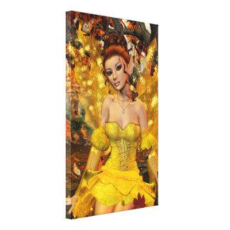 Impressão Em Tela Arte da fantasia de Fae da dança do outono