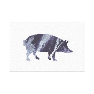 Impressão Em Tela Arte do porco
