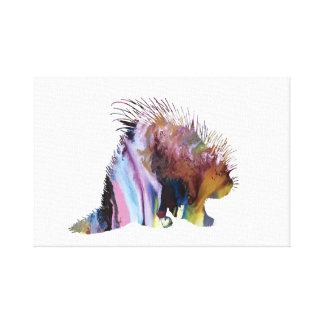 Impressão Em Tela Arte do porco-