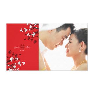 Impressão Em Tela Arte dobro da foto do casamento da felicidade das