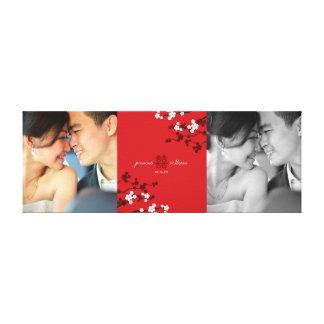 Impressão Em Tela Arte dobro vermelha da foto da felicidade & das