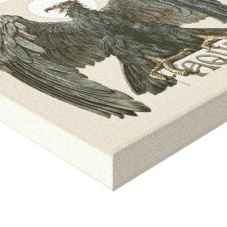 Impressão Em Tela Arte Nouveau Eagle do vintage, pássaros de rapina