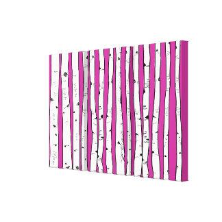 Impressão Em Tela Árvores de vidoeiro você escolhe a cor do fundo