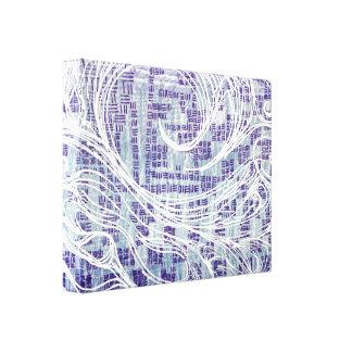 Impressão Em Tela Azul e branco da arte abstracta