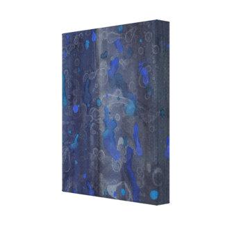Impressão Em Tela Azul e cerceta da arte abstracta