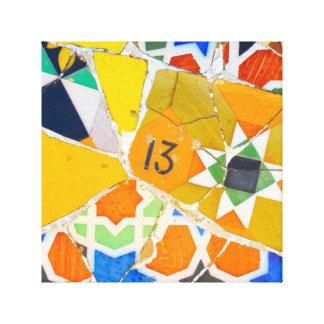 Impressão Em Tela Azulejos de Parc Guell na espanha de Barcelona
