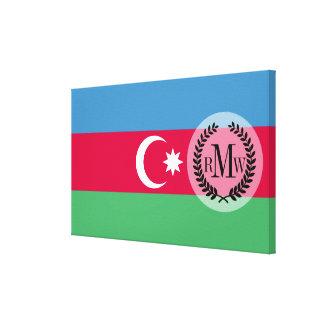 Impressão Em Tela Bandeira de Azerbaijan
