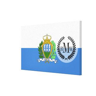 Impressão Em Tela Bandeira de San Marino