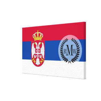 Impressão Em Tela Bandeira de Serbia