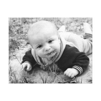 Impressão Em Tela Bebê engraçado