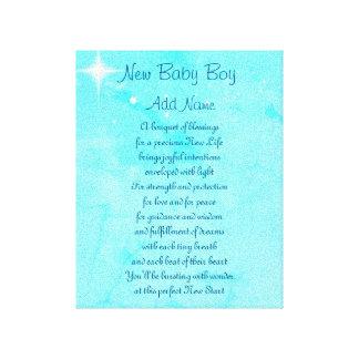 Impressão Em Tela Bebé novo personalizado
