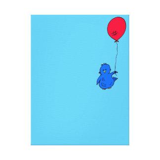 Impressão Em Tela Bluebird 965 da felicidade e de um balão vermelho