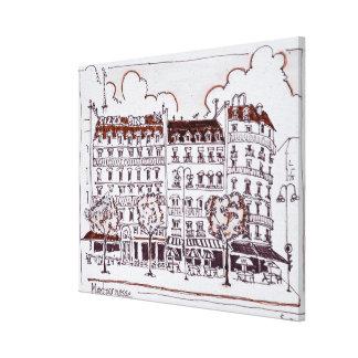 Impressão Em Tela Bulevar típico Montparnasse de Haussmann |, Paris