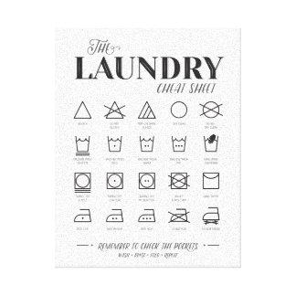 Impressão Em Tela Cábula da lavandaria