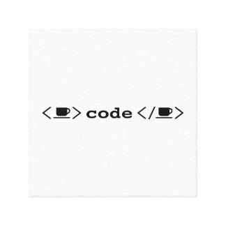 Impressão Em Tela Café e codificação