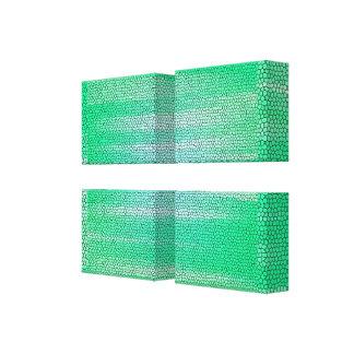 Impressão Em Tela Canvas-Customizável envolvido do mosaico abstrato