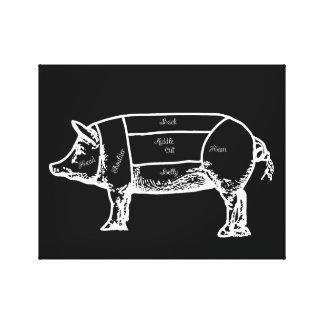 Impressão Em Tela carta do porco