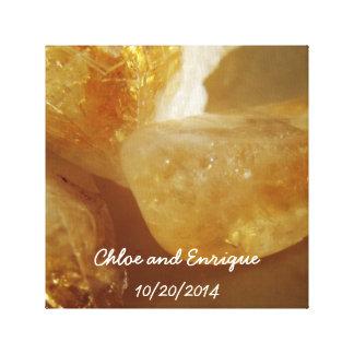 Impressão Em Tela Casamento personalizado de pedras preciosas foto