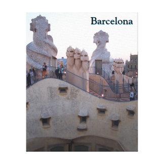 Impressão Em Tela Casas Mila de Barcelona por Antoni Gaudi