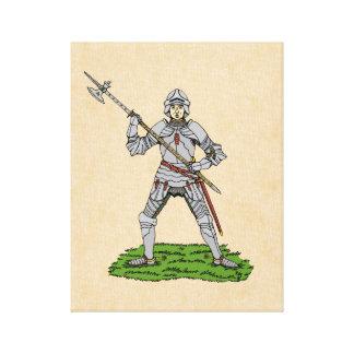 Impressão Em Tela Cavaleiro inglês do século XV