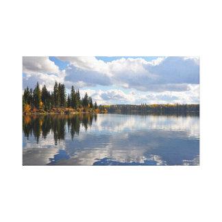Impressão Em Tela Cena do lago e da floresta