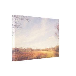 Impressão Em Tela Cenário rural do outono na luz do dia