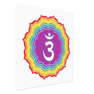 Impressão Em Tela Chakra do terceiro olho