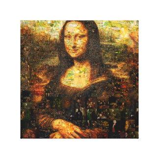 Impressão Em Tela colagem de Mona lisa - mosaico de Mona lisa - Mona