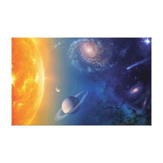 Impressão Em Tela Colagem do espaço do sistema solar da NASA