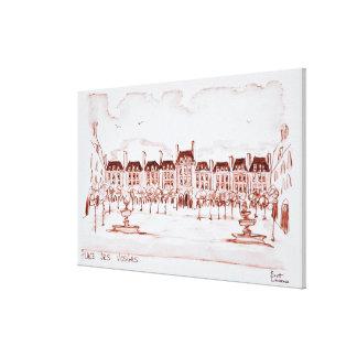 Impressão Em Tela Coloque DES Vosges | Marais, Paris