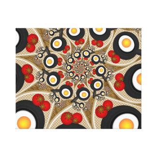 Impressão Em Tela Comida engraçada da arte do Fractal da refeição