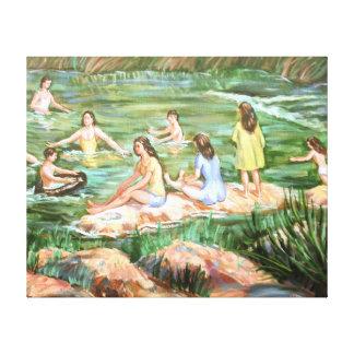Impressão Em Tela Crianças que nadam