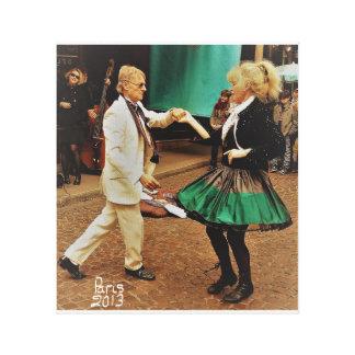 Impressão Em Tela Dança da rua em Paris