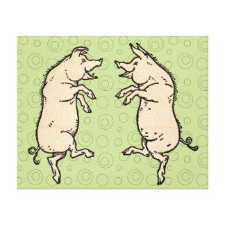 Impressão Em Tela Dança dos porcos do vintage