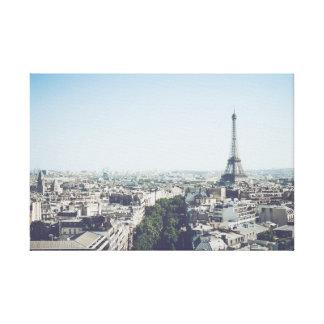 Impressão Em Tela Dar uma olhada Paris com Eiffelturm em linho