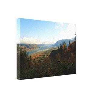 Impressão Em Tela Desfiladeiro do Rio Columbia no outono