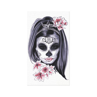 Impressão Em Tela Design da menina do crânio