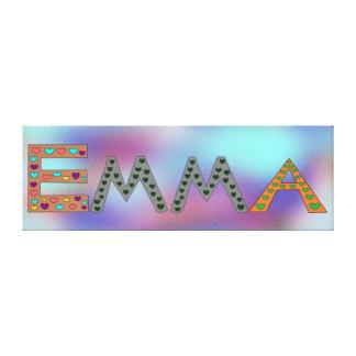 Impressão Em Tela Design do abstrato do nome da menina adorável de