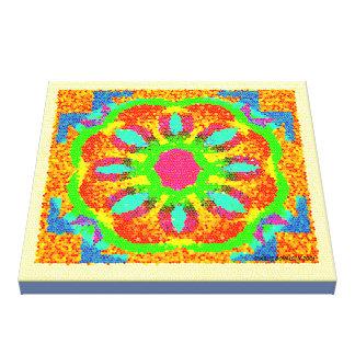 Impressão Em Tela Design do mosaico com símbolos subtis