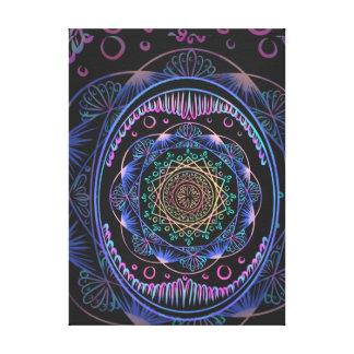 Impressão Em Tela Despertando o teste padrão do zen, reiki, curando,