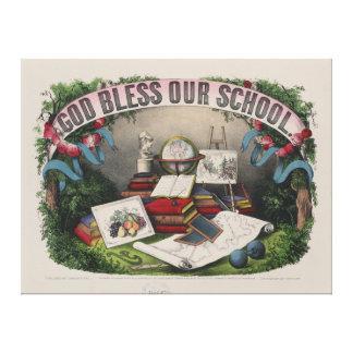 Impressão Em Tela Deus abençoe nossa escola