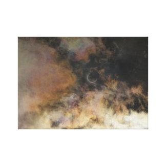 Impressão Em Tela Eclipse solar e nuvens