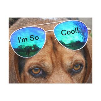 Impressão Em Tela Engraçado eu sou assim que óculos de sol legal do