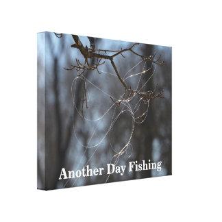 Impressão Em Tela Engraçado uma outra linha Tangled pesca do dia em