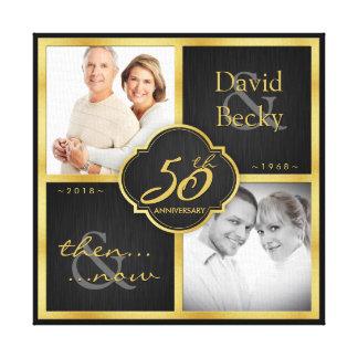 Impressão Em Tela Então e agora 50th aniversário de casamento - 2018