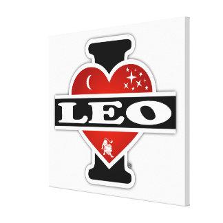 Impressão Em Tela Eu amo Leo