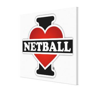 Impressão Em Tela Eu amo o Netball
