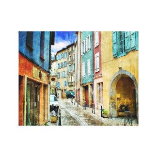 Impressão Em Tela Europeu da cena da rua